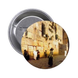 La pared Jerusalén, Jean-León Gerome de Soloman Pin Redondo 5 Cm