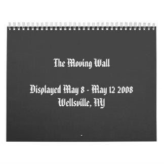 La pared móvil en Wellsville, calendario de NY
