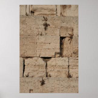 La pared occidental, Jerusalén Poster