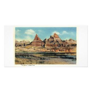 La pared, paso del cedro, Badlands de Dakota del S Tarjetas Fotográficas Personalizadas