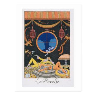 La Paresse, 1924 (impresión del pochoir) Postales