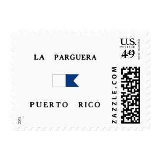 La Parguera Puerto Rico Alpha Dive Flag Postage