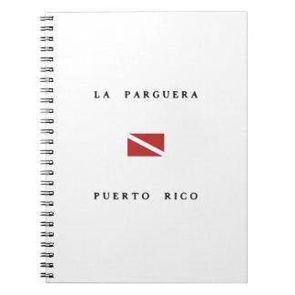 La Parguera Puerto Rico Scuba Dive Flag Note Book