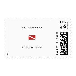 La Parguera Puerto Rico Scuba Dive Flag Stamps
