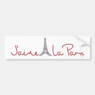 La París (amor París de J'aime de I) Etiqueta De Parachoque