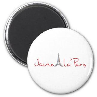 La París (amor París de J'aime de I) Imán Redondo 5 Cm