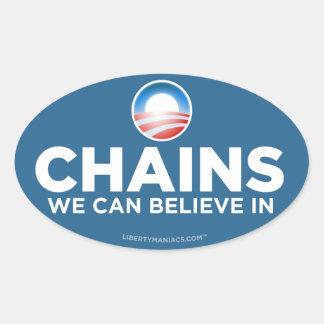 La parodia de Obama encadena al pegatina
