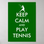La parodia del poster del tenis de la calma y del póster