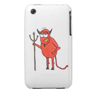 La parrilla de Satan feliz iPhone 3 Cárcasas