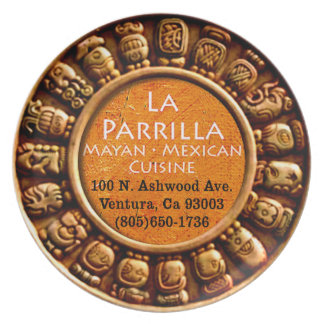 La Parrilla Mexican Restaurant Melamine Plate