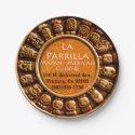 "La Parrilla Mexican Restaurant Paper Plates 7"" 7 Inch Paper Plate"