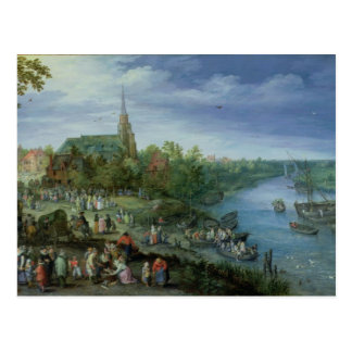 La parroquia anual justa en Schelle 1614 Tarjetas Postales