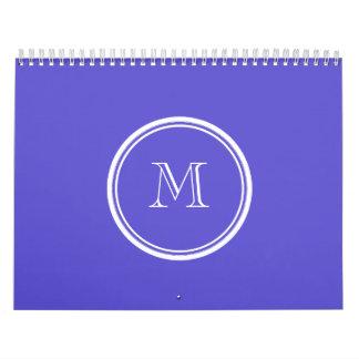 La parte alta del iris coloreó personalizado calendario