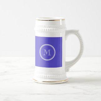La parte alta del iris coloreó personalizado jarra de cerveza