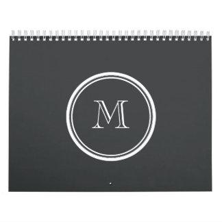 La parte alta del ónix coloreó personalizado calendario de pared