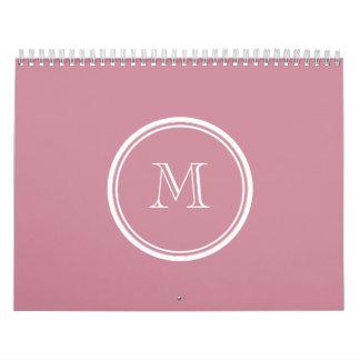 La parte alta del Puce coloreó personalizado Calendario De Pared