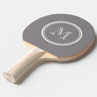 La parte alta gris de color topo coloreó pala de ping pong