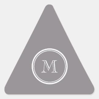 La parte alta gris de color topo coloreó pegatina triangular