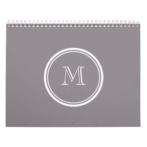 La parte alta gris de color topo coloreó personali calendario de pared