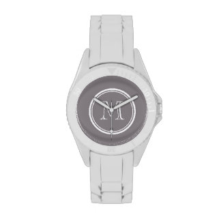 La parte alta gris de color topo coloreó personali relojes