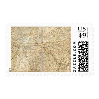 La parte central del estado de California Sello Postal