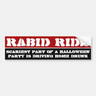 La parte más asustadiza de un fiesta de Halloween  Pegatina Para Auto