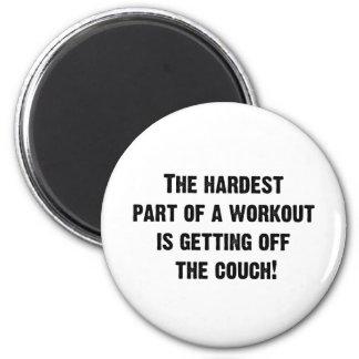 La parte más dura de un entrenamiento imán redondo 5 cm