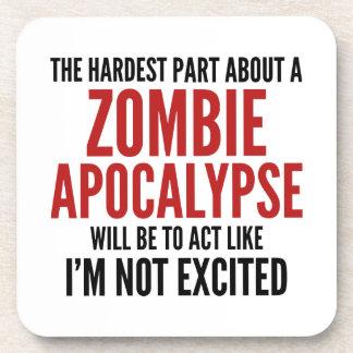 La parte más dura sobre una apocalipsis del zombi posavasos