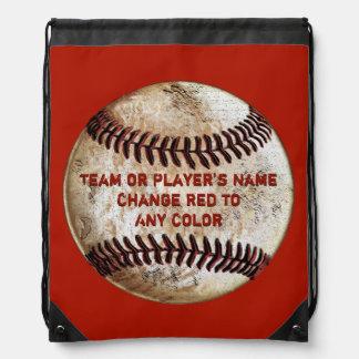 La parte posterior del béisbol del vintage embala mochila