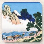 La parte posterior del Fuji del río de Minobu Posavaso