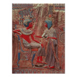 La parte posterior del trono de Tutankhamun