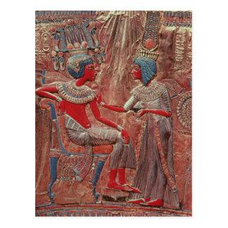 La parte posterior del trono de Tutankhamun Tarjeta Postal