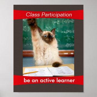 La participación es un poster de la sala de clase