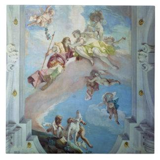 La partida de Venus de Adonis, 1707-08 (fresco) Azulejo Cuadrado Grande