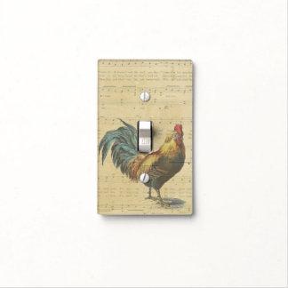 La partitura del gallo del vintage observa el país cubierta para interruptor