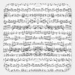 La partitura retra del piano observa el modelo pegatina cuadradas personalizadas