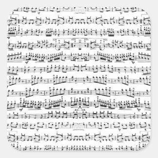 La partitura retra del piano observa el modelo pegatina cuadrada