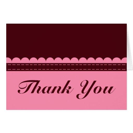 La pasa y el rosa le agradecen cardar tarjeta de felicitación