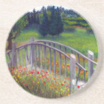 La pasarela del carril de la mariquita florece el  posavaso para bebida