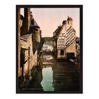 La pasarela del Steir vinta de Quimper Francia Tarjetas Postales