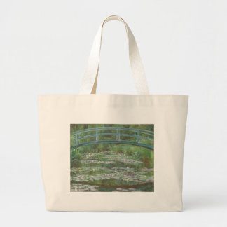 La pasarela japonesa de Claude Monet Bolsa Tela Grande