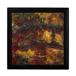 La pasarela japonesa Giverny de Claude Monet Caja De Recuerdo