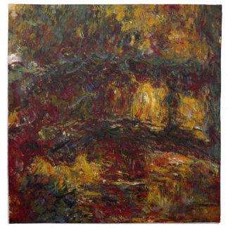 La pasarela japonesa Giverny de Claude Monet Servilleta