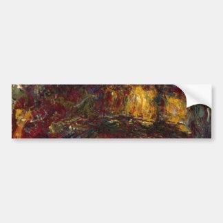 La pasarela japonesa, Giverny de Claude Monet Pegatina Para Auto