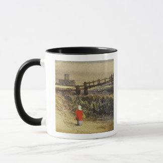 La pasarela (paisaje con la capa roja) (w/c y taza