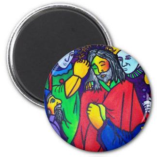 La pasión de Cristo por Piliero Imán Redondo 5 Cm