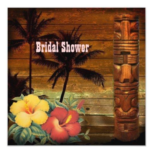 """la pasión del vintage florece la ducha nupcial de invitación 5.25"""" x 5.25"""""""