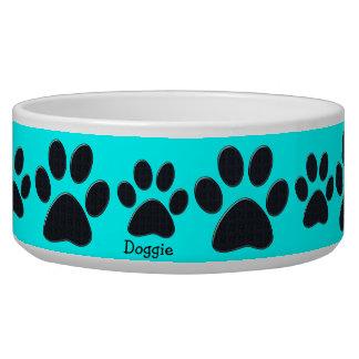 La pata azul imprime el cuenco del perro tazones para perro