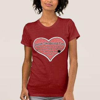 La pata británica de Shorthair imprime humor del Tshirt