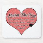 La pata de Alaska de Klee Kai imprime humor del pe Tapete De Raton